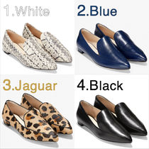 Cole Haan Leopard Patterns Rubber Sole Casual Style Spawn Skin Plain