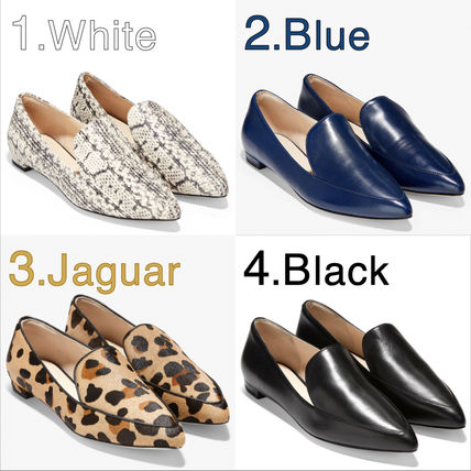Leopard Patterns Rubber Sole Casual Style Spawn Skin Plain