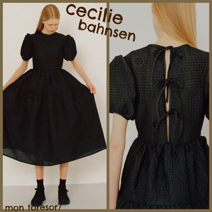 Casual Style Plain Party Style Elegant Style Dresses