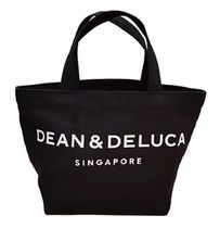 DEAN&DELUCA Casual Style Unisex Canvas Plain Office Style Logo Totes