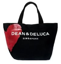 DEAN&DELUCA Heart Casual Style Canvas Plain Office Style Logo Totes