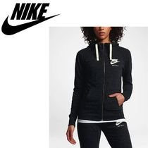 Nike Casual Style Sweat Street Style Cropped Long Sleeves Plain