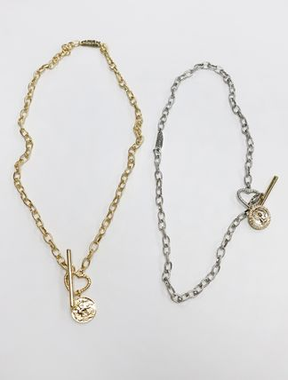 Casual Style Coin Chain Brass 18K Gold Necklaces & Pendants