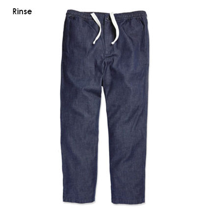 Tapered Pants Denim Street Style Plain Cotton Jeans