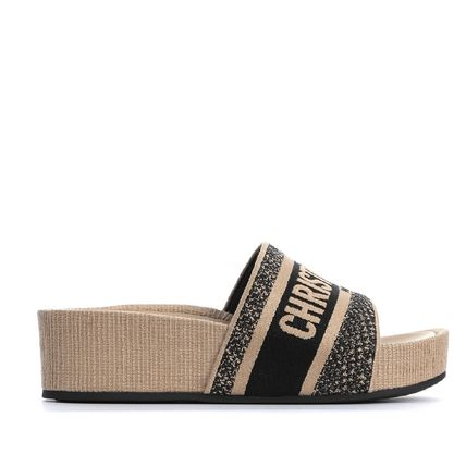 Christian Dior Casual Style Street Style Plain Mules Logo