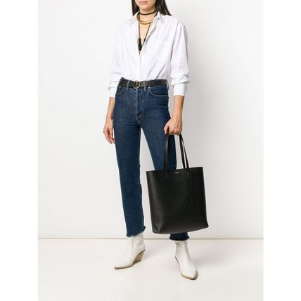 Saint Laurent Casual Style Leather Totes