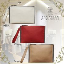 BRUNELLO CUCINELLI Casual Style 2WAY Plain Leather Party Style Elegant Style