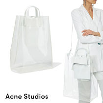 Ance Studios Casual Style Street Style A4 2WAY Plain Logo Sheer Totes