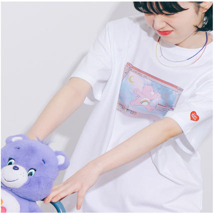 Street Style Cotton Short Sleeves Logo T-Shirts