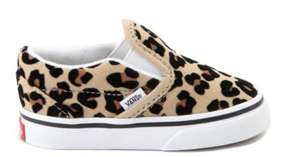 VANS SLIP ON Unisex Street Style Collaboration Kids Girl Sneakers