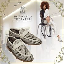 BRUNELLO CUCINELLI Leather Elegant Style Loafer & Moccasin Shoes