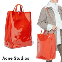 Ance Studios Casual Style 2WAY Plain Leather Crossbody Totes