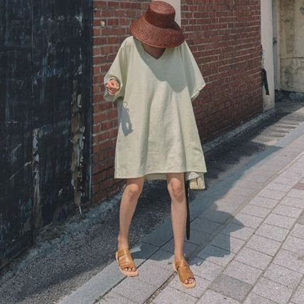 Short Casual Style A-line Chiffon Dolman Sleeves Flared