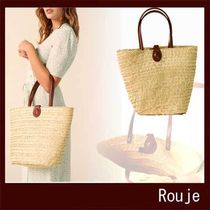 Rouje A4 Straw Bags