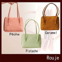 Rouje Casual Style Plain Leather Office Style Elegant Style