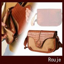 Rouje Casual Style Leather Office Style Elegant Style
