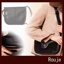 Rouje Casual Style Suede Leather Office Style Elegant Style