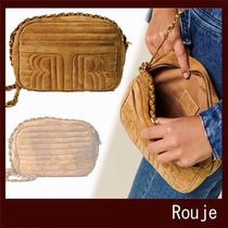 Rouje Casual Style Suede Leather Crossbody Shoulder Bags
