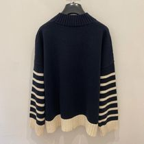 Weekend Max Mara Cable Knit Casual Style Cotton Logo Sweaters