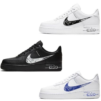 Nike AIR FORCE 1 Street Style Logo Sneakers