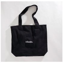 AFENDS Casual Style Unisex Street Style Plain Logo Totes