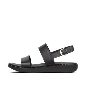 Open Toe Rubber Sole Casual Style Street Style Plain Leather