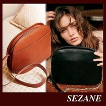SEZANE Casual Style Suede Plain Leather Office Style Elegant Style