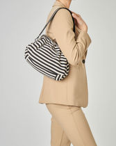 Weekend Max Mara Stripes Casual Style Shoulder Bags