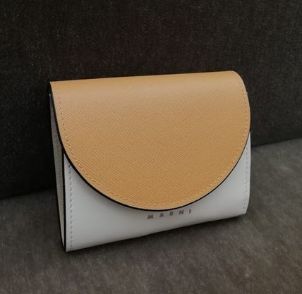 Saffiano Plain Folding Wallet Logo Folding Wallets