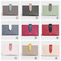 CELINE Plain Leather Logo Card Holders