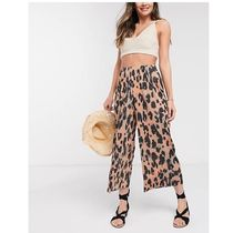 ASOS Casual Style Plain Other Animal Patterns Culottes