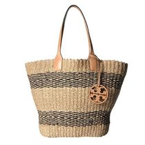 Tory Burch MILLER Stripes A4 Straw Bags