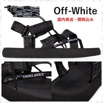 Off-White Rubber Sole Casual Style Sport Sandals Logo Flat Sandals