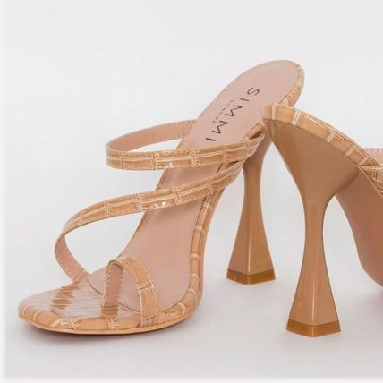 Mules Clear Flame Heeled Sandals