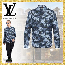 Louis Vuitton Camouflage Monogram Silk Street Style Long Sleeves Logo