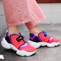 Nike AIR RIFT Platform Round Toe Casual Style Unisex Faux Fur