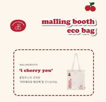 MALLING BOOTH Casual Style Street Style A4 Plain Logo Totes