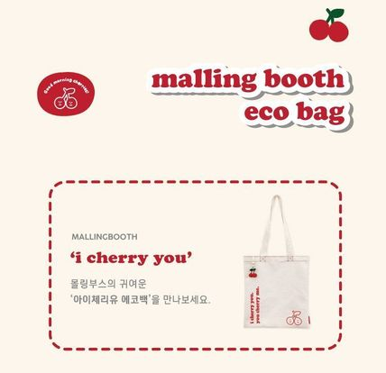 Casual Style Street Style A4 Plain Logo Totes