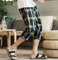 Street Style Bi-color Cotton Oversized Sarouel Shorts