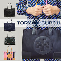 Tory Burch ELLA TOTE Gingham Tartan Flower Patterns Paisley Tropical Patterns