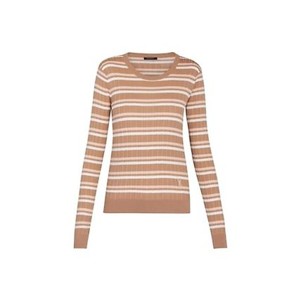 Louis Vuitton STRIPED JUMPER beige t-shirts