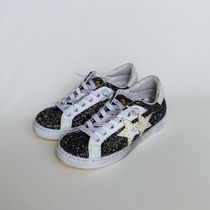 2STAR Star Casual Style Glitter Low-Top Sneakers