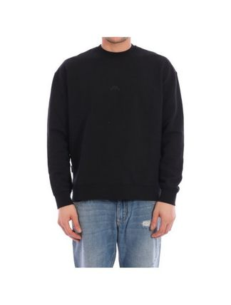 Crew Neck Pullovers Street Style Long Sleeves Oversized Logo