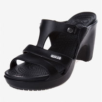 CROCS Wedge Casual Style Unisex Street Style Plain