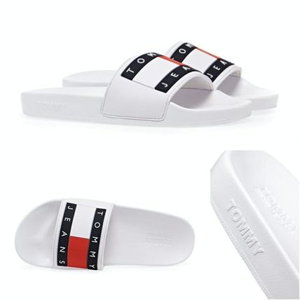 Open Toe Casual Style Street Style Plain Logo Sandals Sandal