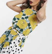 ASOS Flower Patterns Dots Sleeveless Flared Medium Party Style