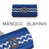 Manolo Blahnik Casual Style Blended Fabrics Party Style Elegant Style