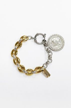 Casual Style Coin Silver 18K Gold Elegant Style Bracelets
