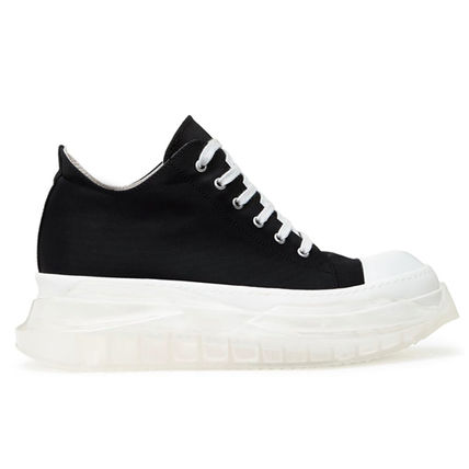 Street Style Plain Leather Python Sneakers