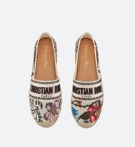 Christian Dior Flower Patterns Casual Style Flats